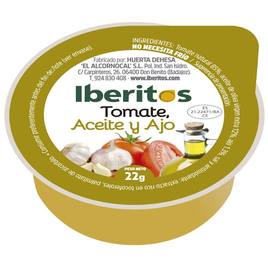 Iberitos: Aceite Oliva Virgen Extra,Tomate y Ajo - 25gr
