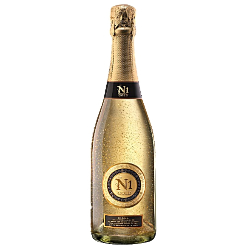 Cava N1 Golden Dreams: Brut Natural mit kleinen Flocken aus Gold 23 Karat *